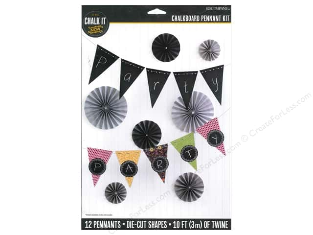 K&Company Chalk It Now Chalkboard Pennant Kit