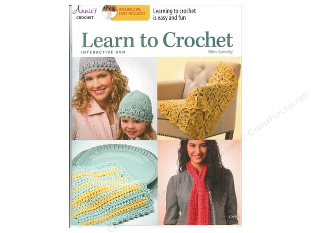 Annie's Learn to Crochet Book with Interactive DVD by Ellen Gormley