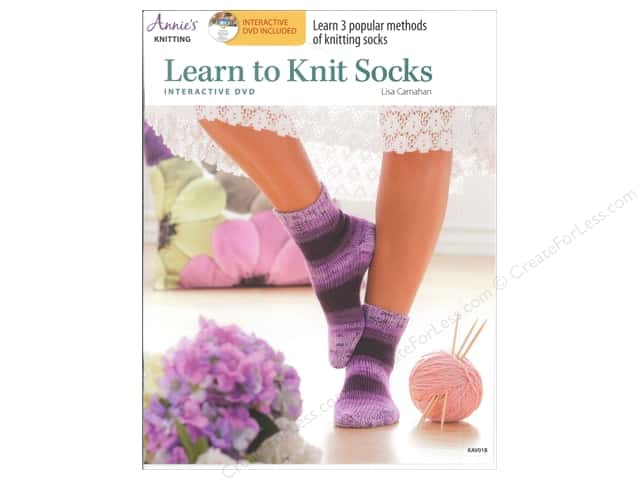 Learn to Knit Socks Book with Interactive DVD by Lisa Carnahan