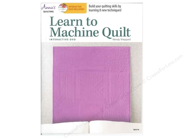 Annie's Learn To Machine Quilt Book with Interactive DVD by Wendy Sheppard