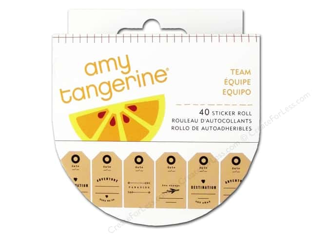American Crafts Amy Tangerine Plus One Sticker Roll