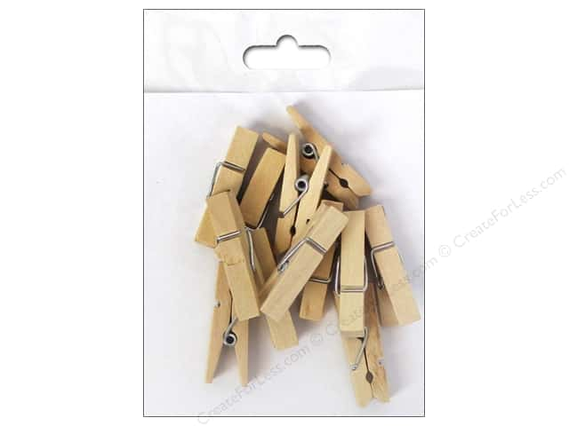 Sierra Pacific Decor Clothes Pins 1.5 in. 12 pc Natural