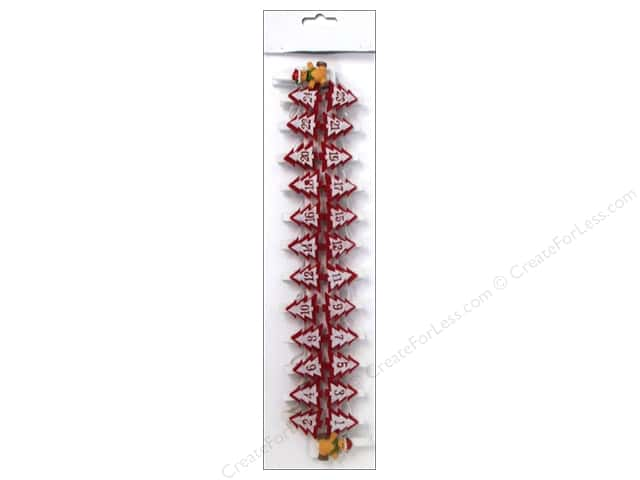 Sierra Pacific Decor Clips Numbered Tree Felt 1.25 in. 24 pc Red/White