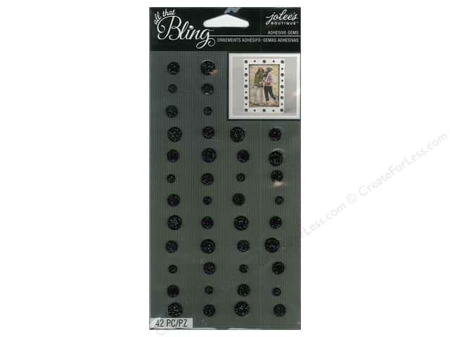 Jolee's Boutique Stickers Gems Circle Black