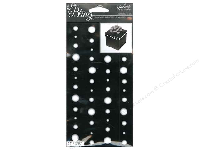 Jolee's Boutique Stickers Bling Gems Circle White
