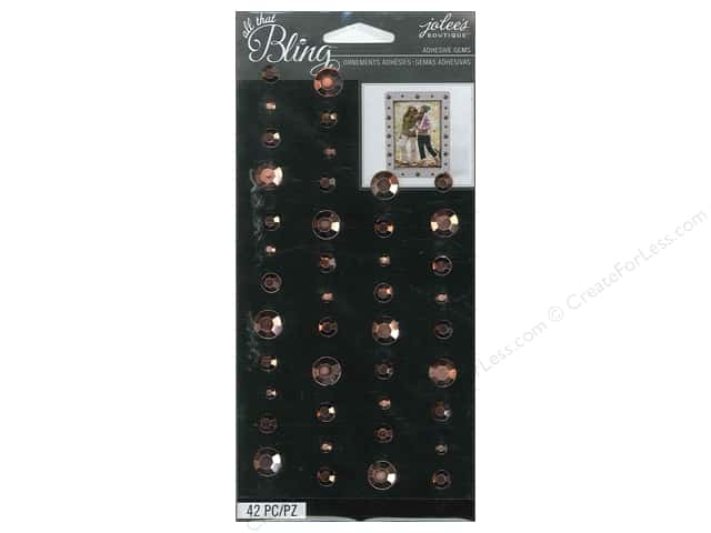 Jolee's Boutique Stickers Bling Gems Circle Rose Gold