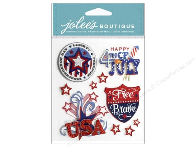Jolee's Boutique Stickers Patriotic Words