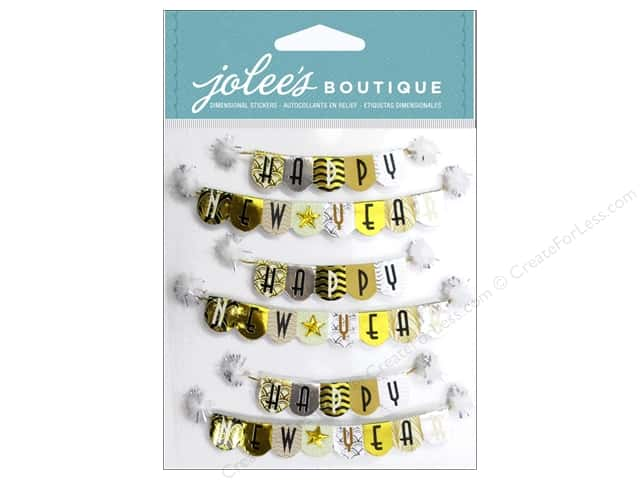 Jolee's Boutique Stickers Happy New Year Repeat