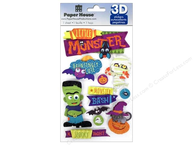 Paper House Sticker 3D Halloween Monster