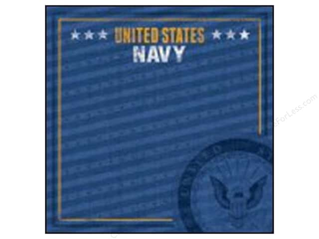 Paper House 12 x 12 in. Paper Navy Emblem (25 sheets)