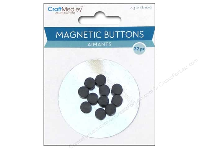 Multicraft Tools Magnetic Buttons 8mm 22pc