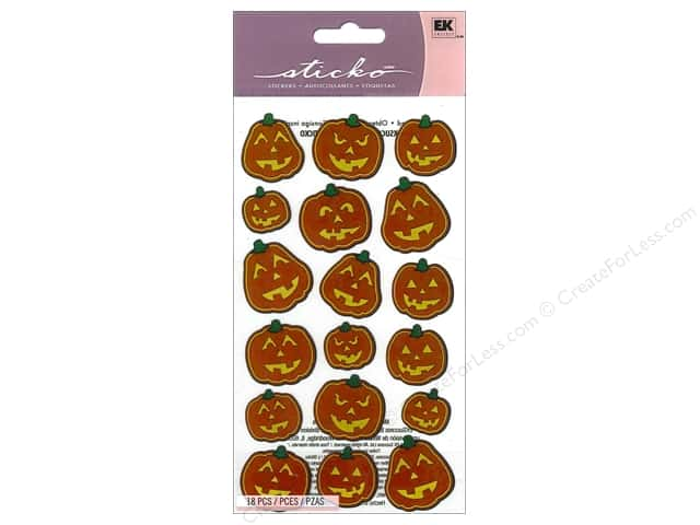 EK Sticko Stickers Scary Pumpkins