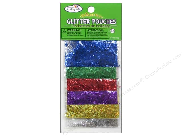 Multicraft Krafty Kids Glitter Pouches 12g Bar Glitter