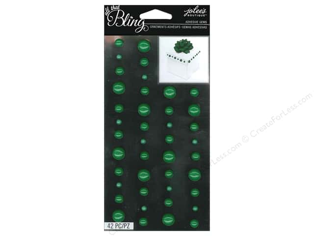 Jolee's Boutique Bling Stickers Gems Circle Emerald