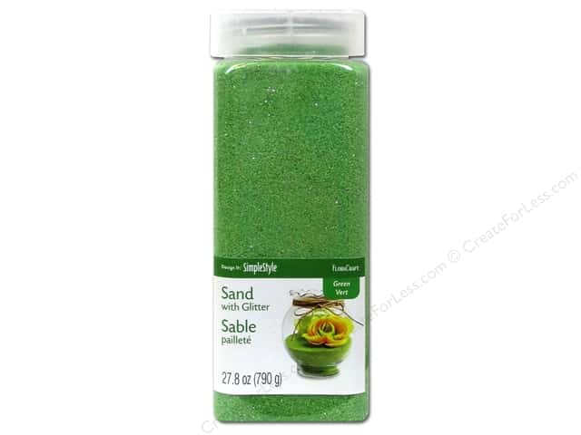FloraCraft Sand with Glitter 27.8oz Green