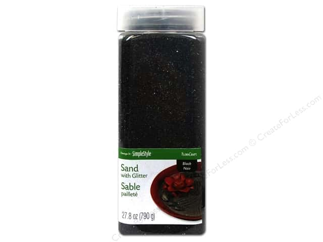 FloraCraft Sand with Glitter 27.8oz Black