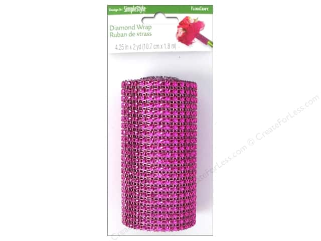 FloraCraft Diamond Wrap Mesh 4 1/4 in. x 2 yd. Fuchsia