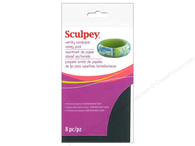Sculpey Clay Tools Sandpaper Variety Pack 8pc