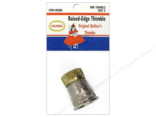 Colonial Needle Thimble Raised Edge Size 6