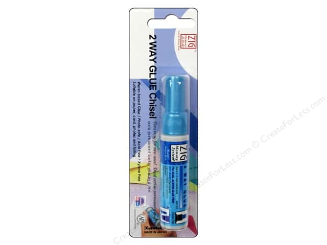 Zig Two Way Glue Chisel Tip Carded .35oz