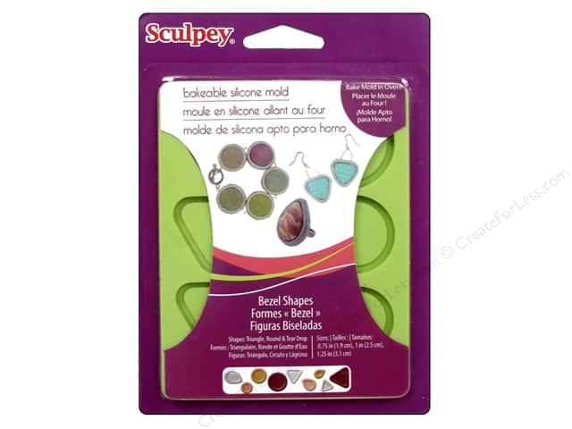 Sculpey Flexible Push Mold Bakeable Silicone Bezel