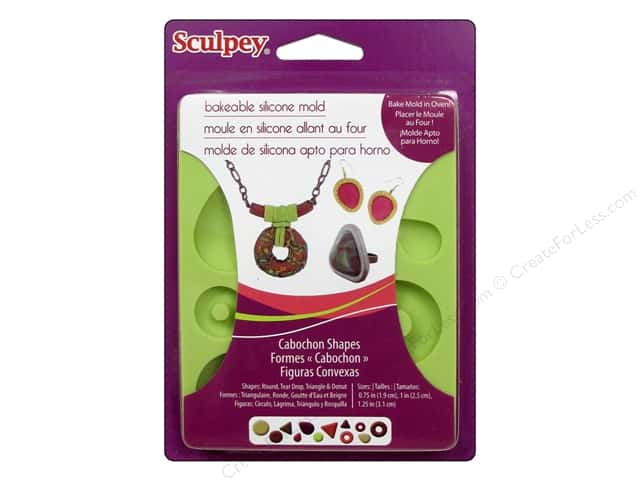 Sculpey Flexible Push Mold Bakeable Silicone Cabochon