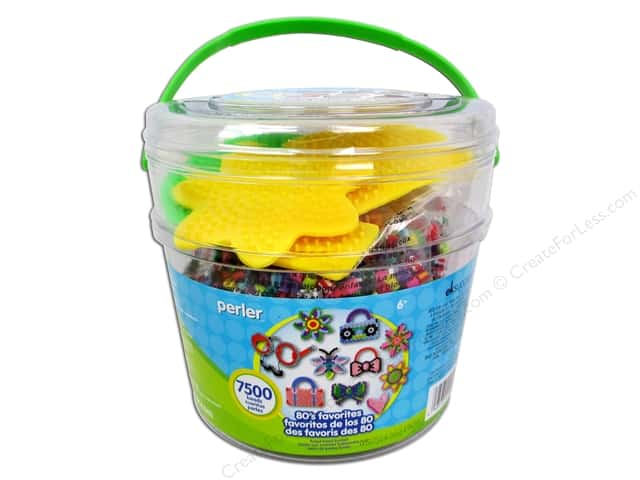 Perler Fused Bead Kit Bucket 80's Favorites 7500 pc