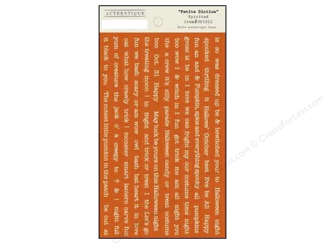 Authentique Stickers Spirited Petite Diction (12 sets)