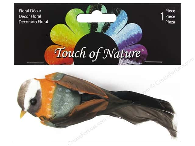 Midwest Design Artificial Birds 4 in. Natural Gold/Olive Feather 1 pc.
