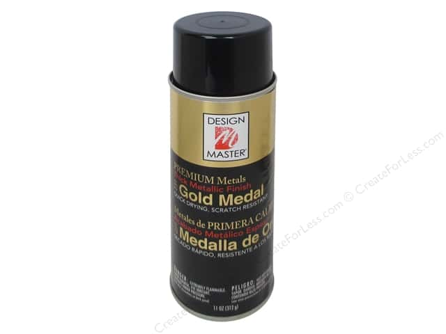 Design Master Premium Metals Spray Paint 11 oz.#231 Gold Medal