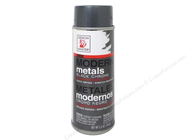 Design Master Modern Metals 5.5oz Black Chrome