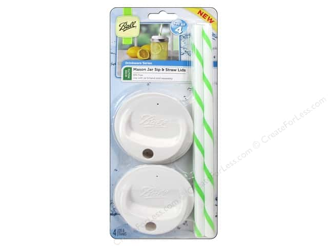 Ball Marson Jar Sip & Straw Lids 2 pc. Wide Mouth