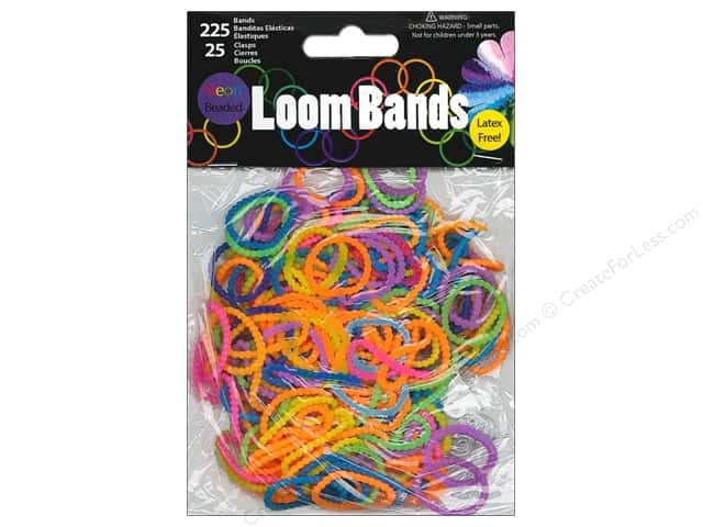 Midwest Design Loom Bands 250 pc. Beaded Bright