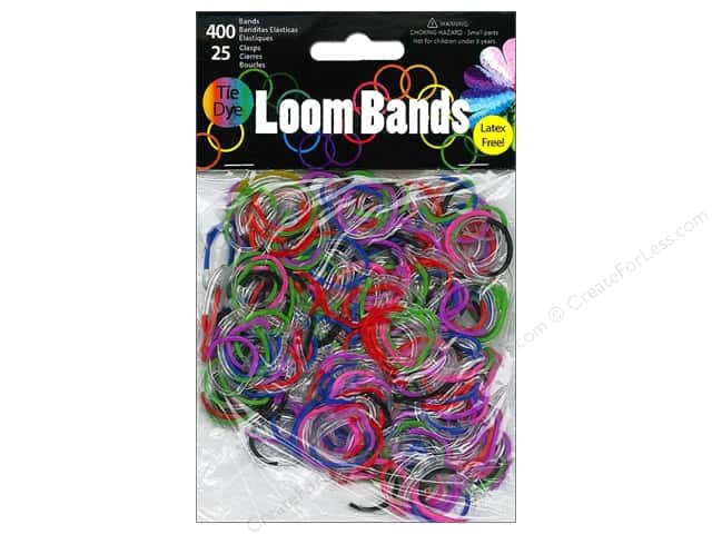 Midwest Design Loom Bands 425 pc. Clear Tie-Dye Multi