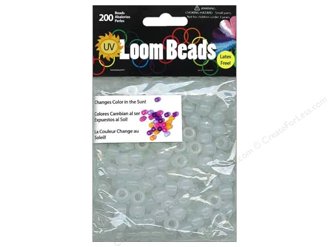 Midwest Design Loom Bands 200 pc. UV to Multicolor Pony Bead