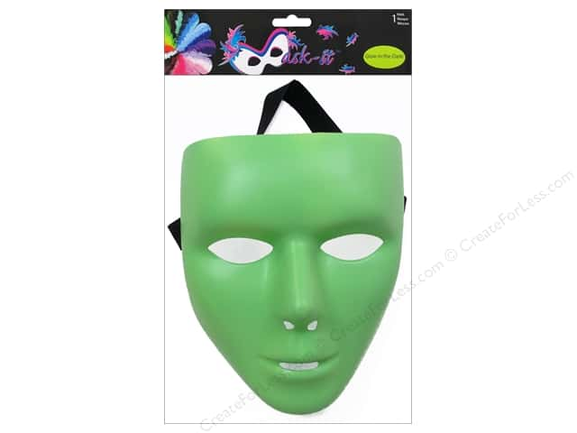 "Midwest Design Mask 7.5"" Glow-in-the-Dark"