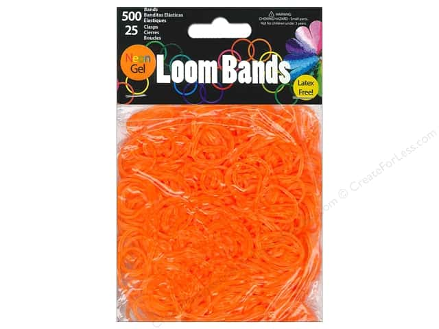 Midwest Design Loom Bands 525 pc. Neon Gel Orange
