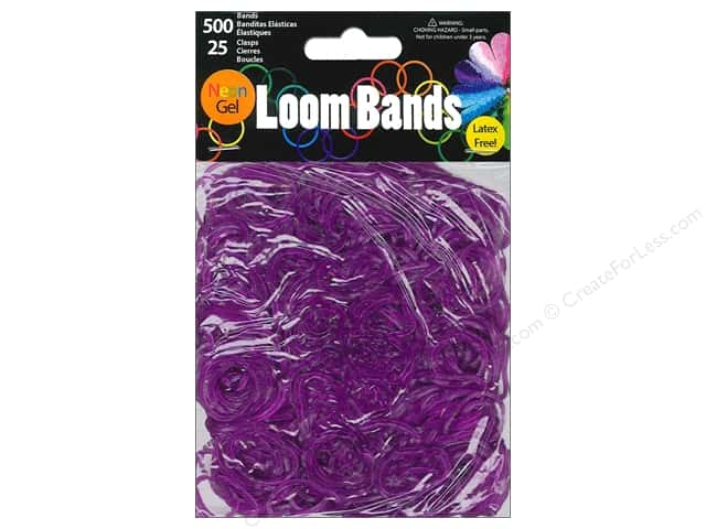 Midwest Design Loom Bands 525 pc. Neon Gel Purple