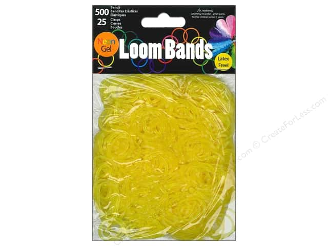 Midwest Design Loom Bands 525 pc. Neon Gel Yellow