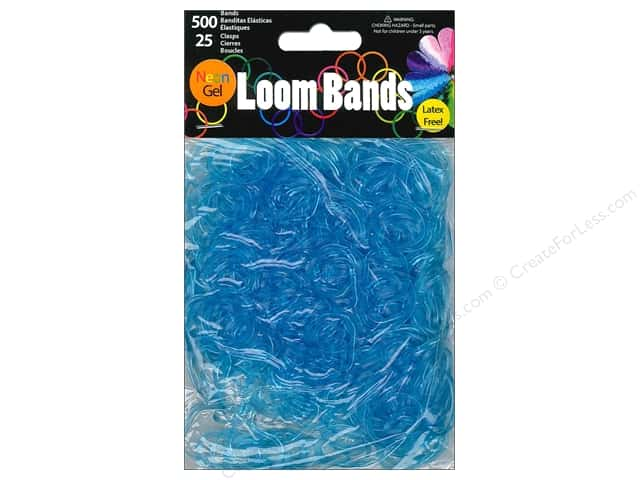Midwest Design Loom Bands 525 pc. Neon Gel Turquoise