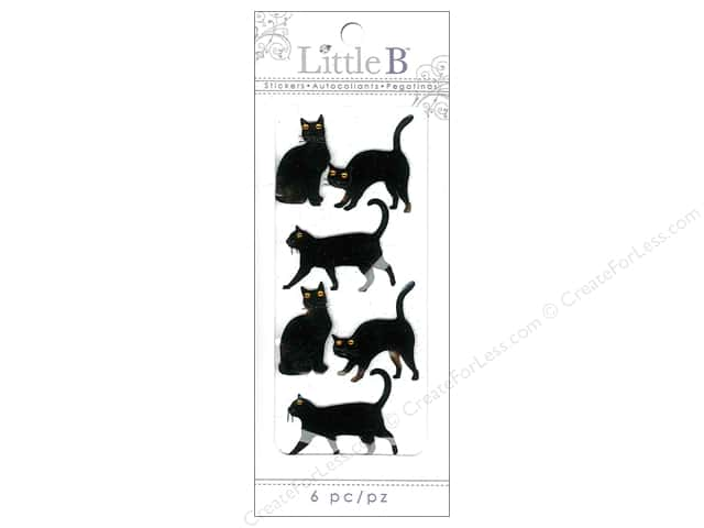 Little B Sticker Mini Cats Black