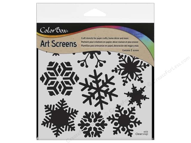 "ColorBox Art Screens Stencil 6""x 6"" Blizzard"