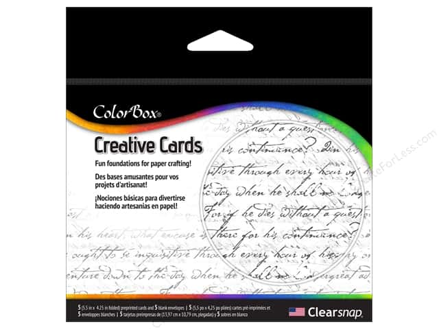 ColorBox Creative Cards and Envelopes Handwritten