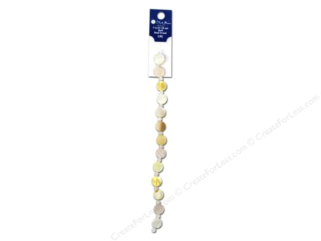 Blue Moon Beads Bead Strand 7 in. Shell Disk Natural