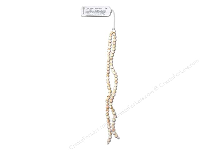 Blue Moon Beads Bead Strand 14 in. Round Shell Natural