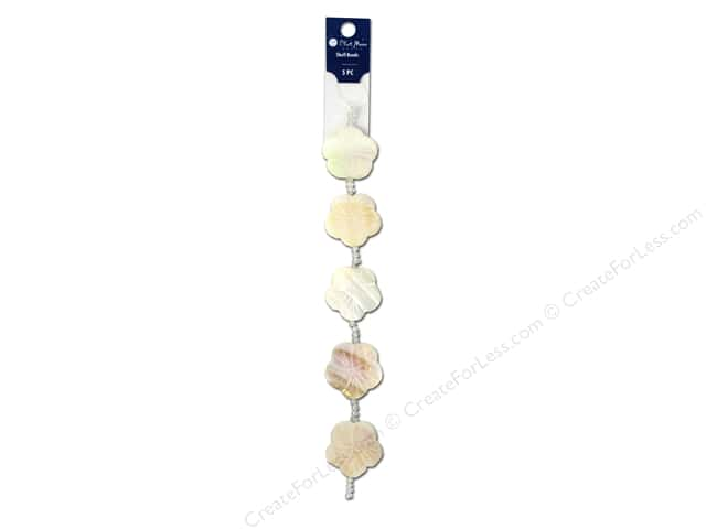 Blue Moon Beads Bead Strand 7 in. Shell Flower