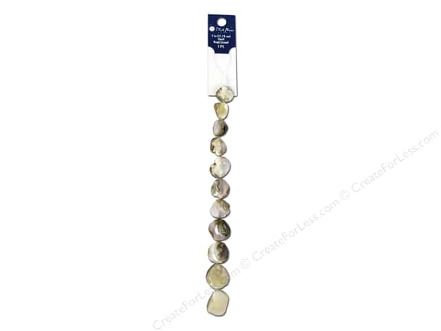 Blue Moon Beads Bead Strand 7 in. Shell Irregular Round