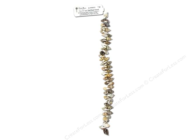 Blue Moon Beads Bead Strand 7 in. Brown Cone Shells