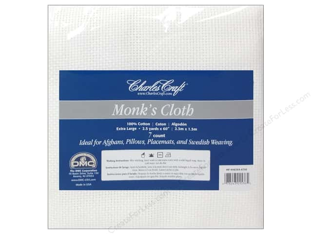 Charles Craft Monk's Cloth 7-count 60 in. x 2 1/2 yd. White