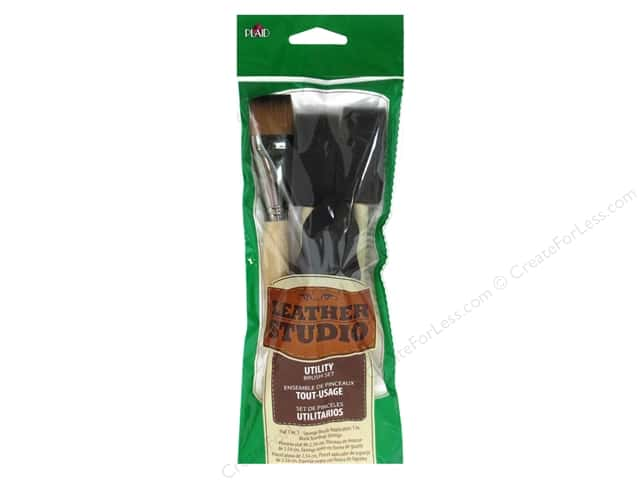 Plaid Tools Leather Studio Utility Brush Set 4pc
